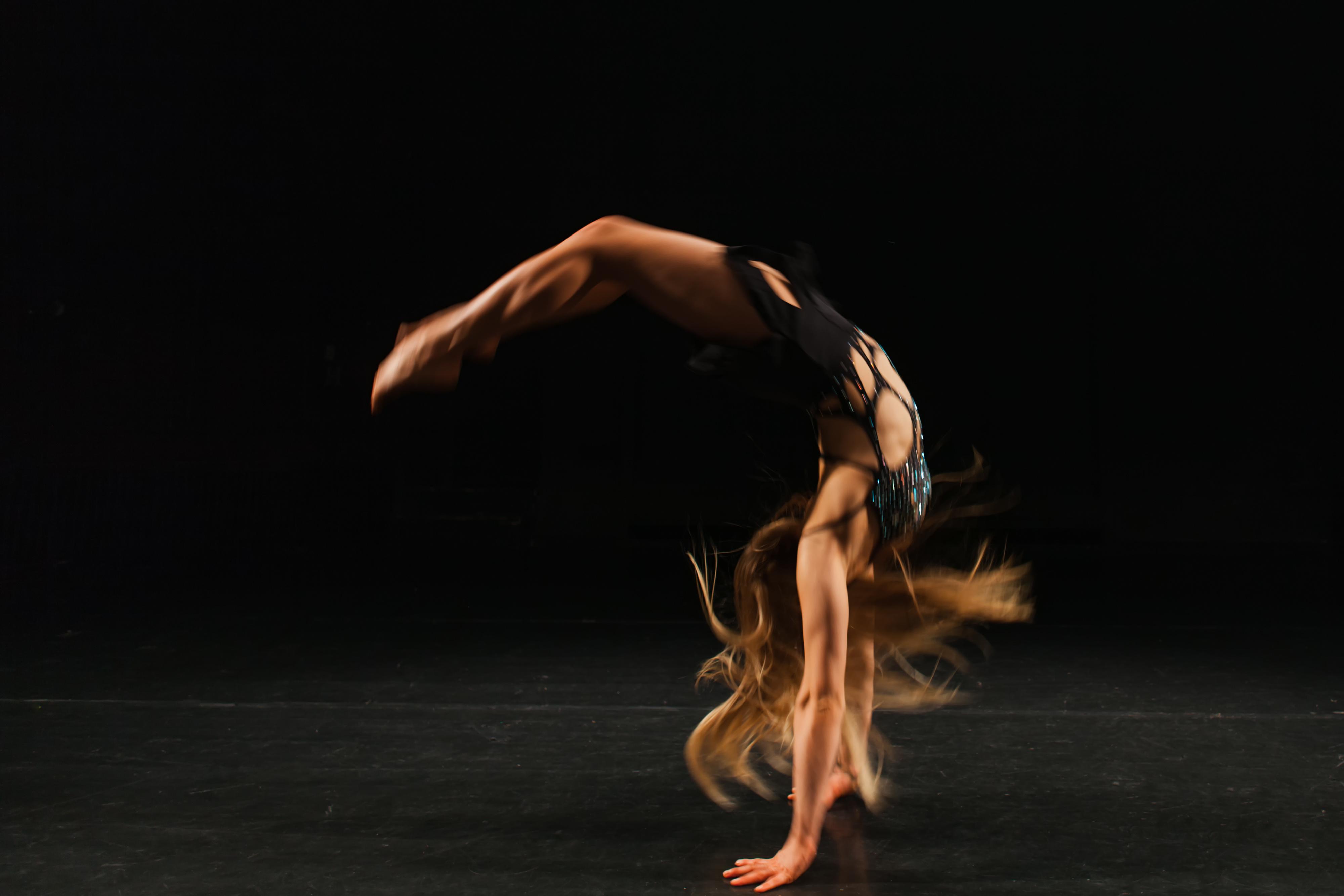 gymnast performing handspring